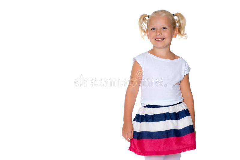 Portrait of a little girl close-up. royalty free stock photography