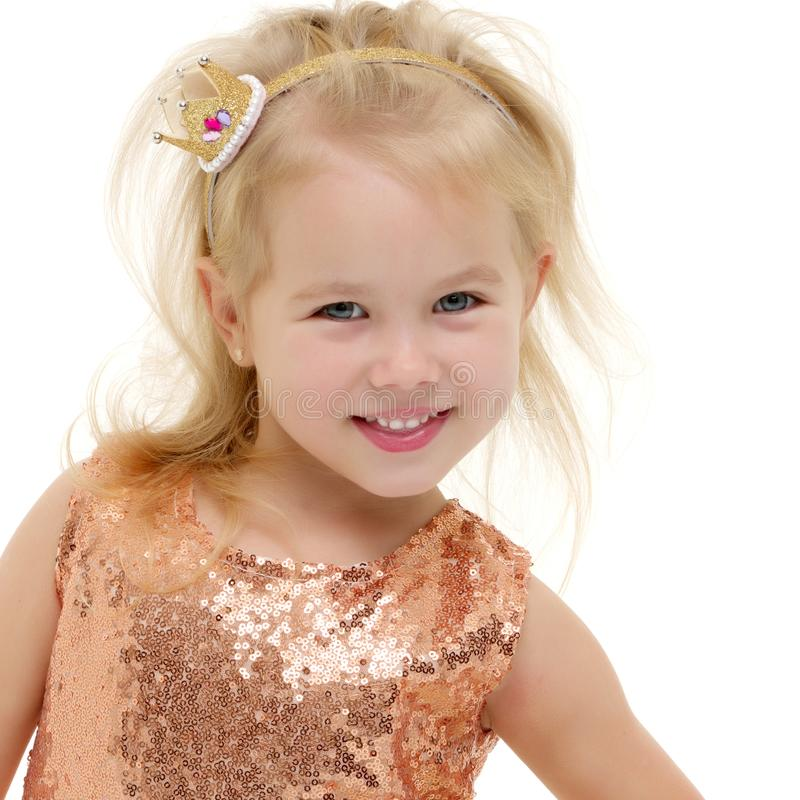 Portrait of a little girl close-up. royalty free stock photo
