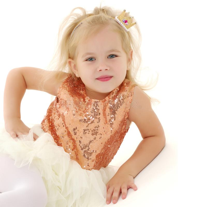 Portrait of a little girl close-up. stock images