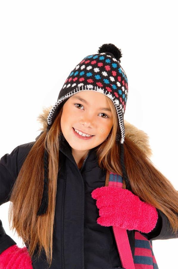 Portrait of little girl. stock photo