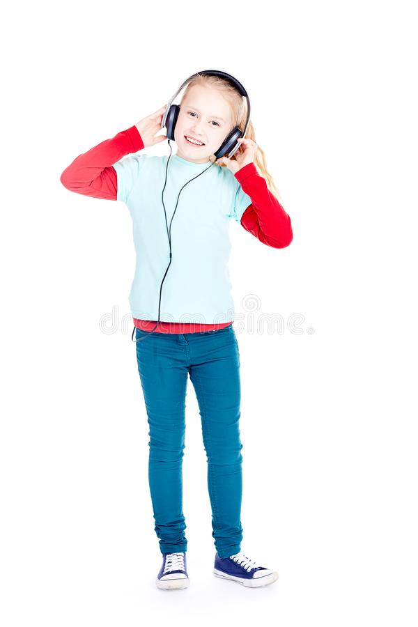 Little music lover royalty free stock photos