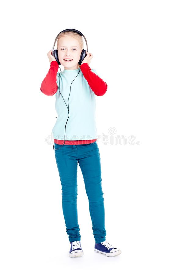 Little music lover stock photography