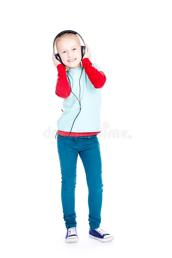 Little music lover royalty free stock photography