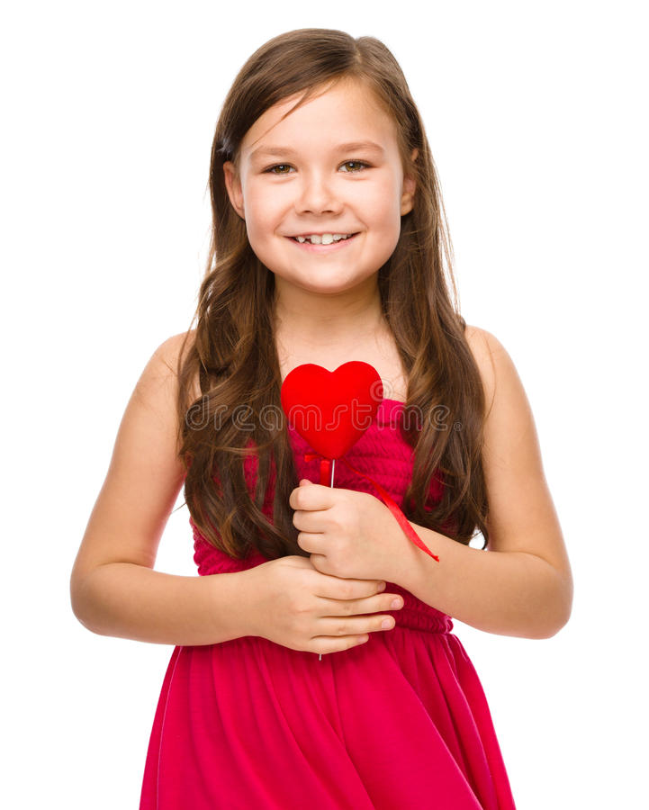 Portrait of a little girl stock images