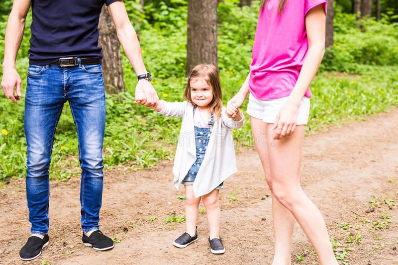 Portrait of little girl outdoors in summer royalty free stock photography