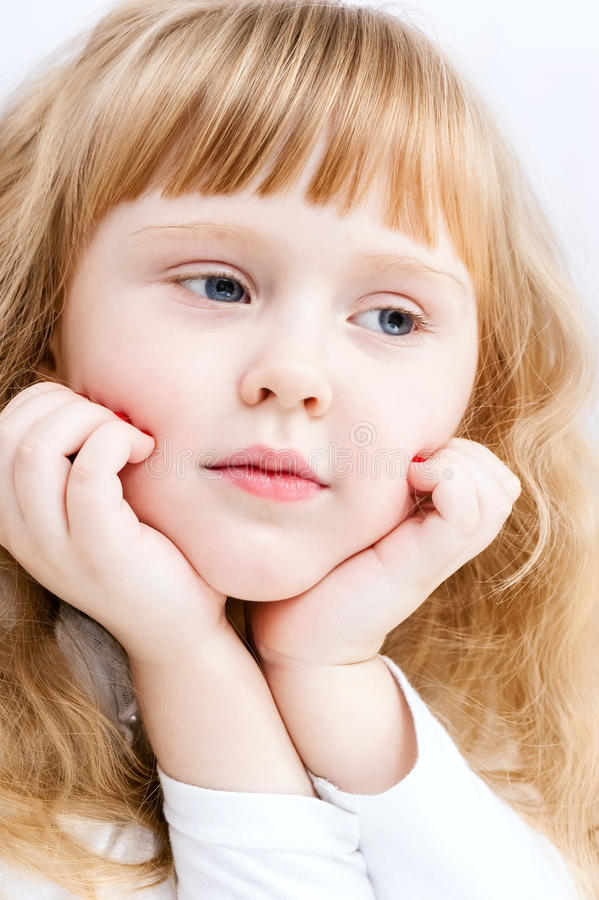 Download Portrait of a little girl stock image. Image of beauty - 35087551