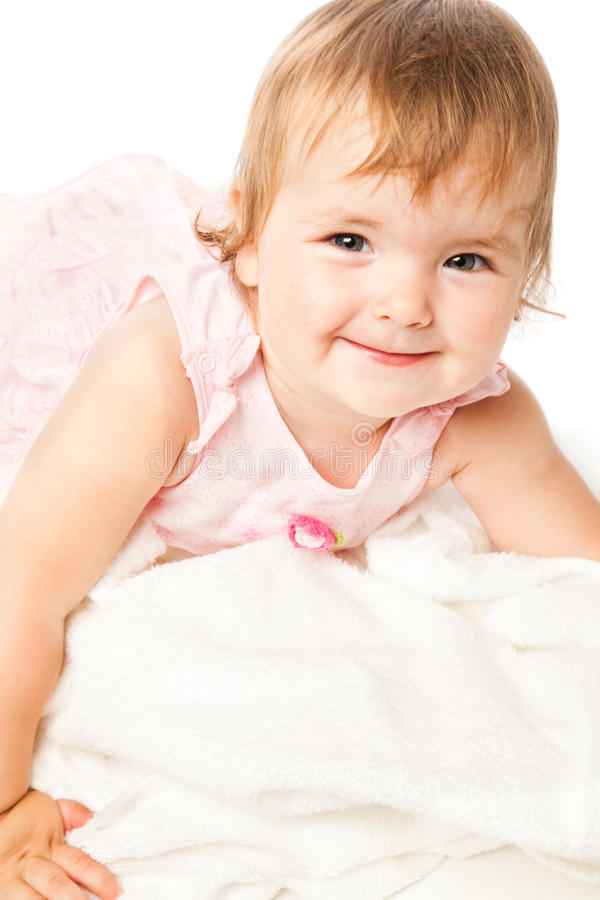 Download Portrait Of Little Girl In Pink Dress Stock Image - Image: 10461001