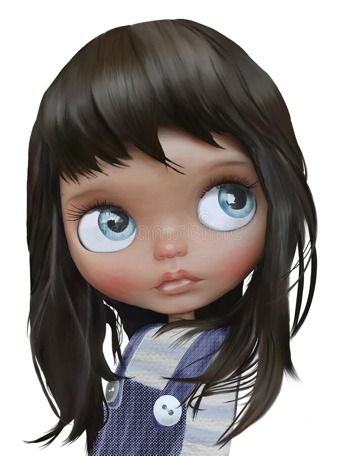 Portrait of a little girl.  royalty free illustration