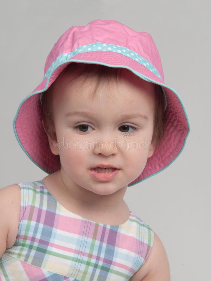 Download Portrait Of Little Girl Wearing Panama Stock Photography - Image: 23118732