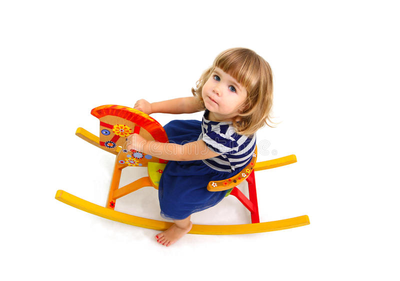 Download Portrait Of A Little Girl Who Riding Stock Photo - Image: 27518008