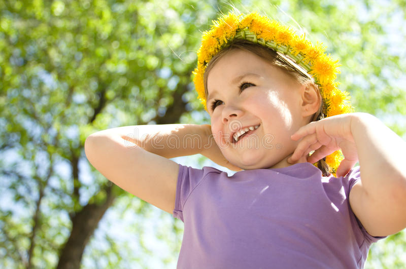 Download Portrait Of A Little Girl With A Wreath Stock Image - Image: 24661639