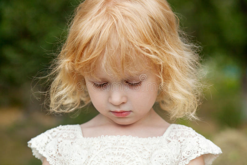 Portrait of little girl 3 years old, stock image