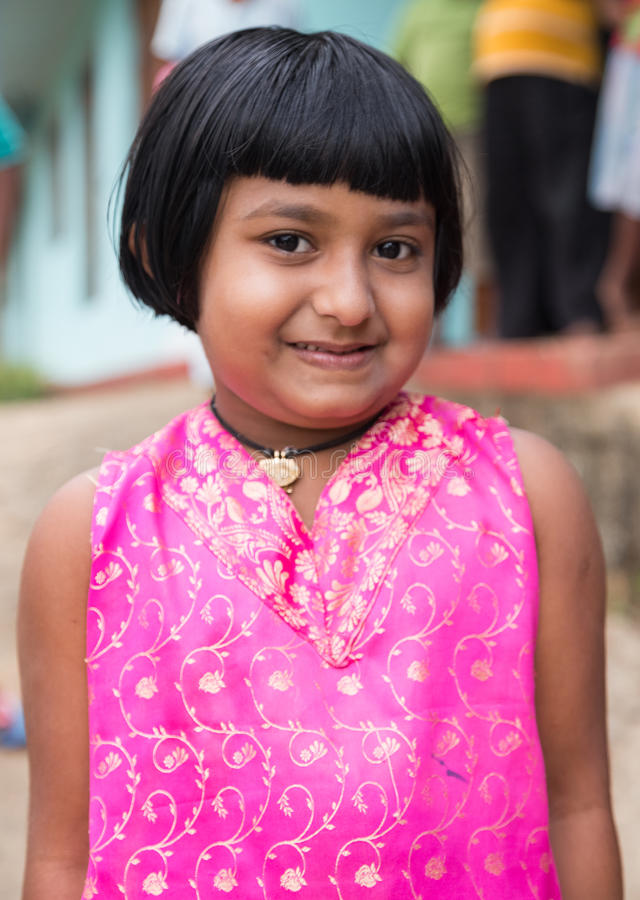 Portrait of little local girl stock photography