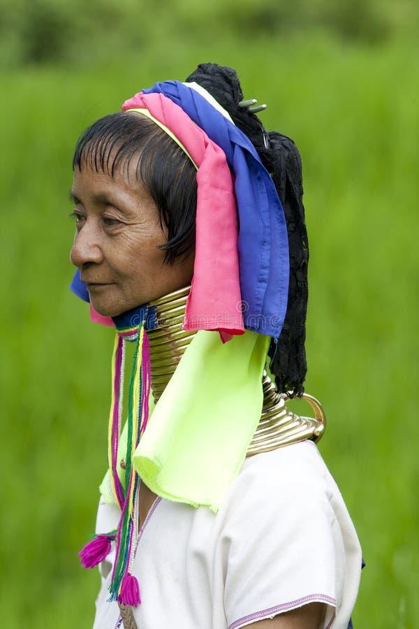Portrait Of Long Neck Woman Stock Images
