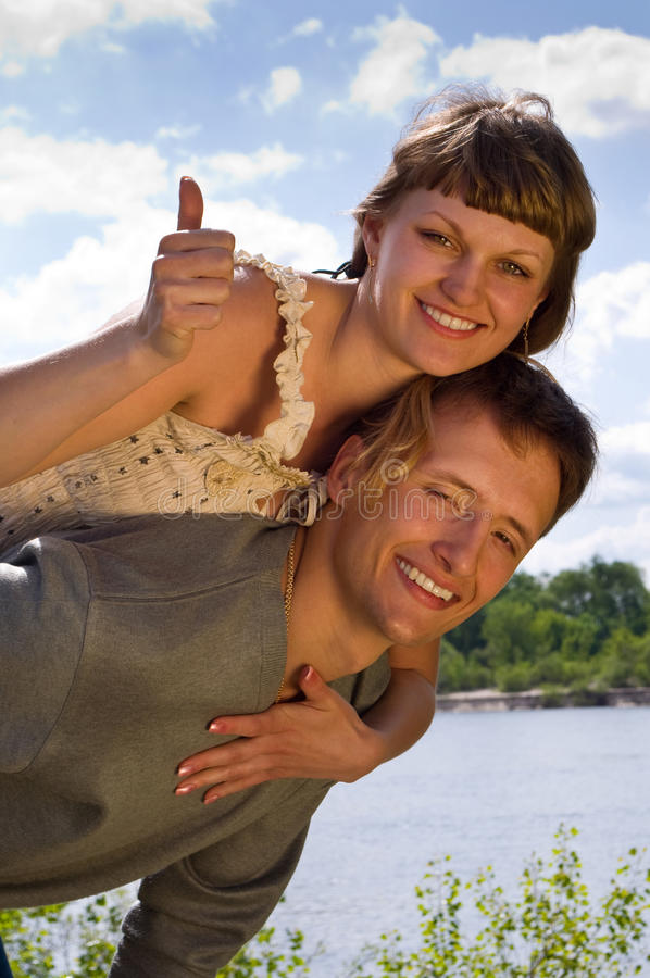 Portrait of love in nature stock image