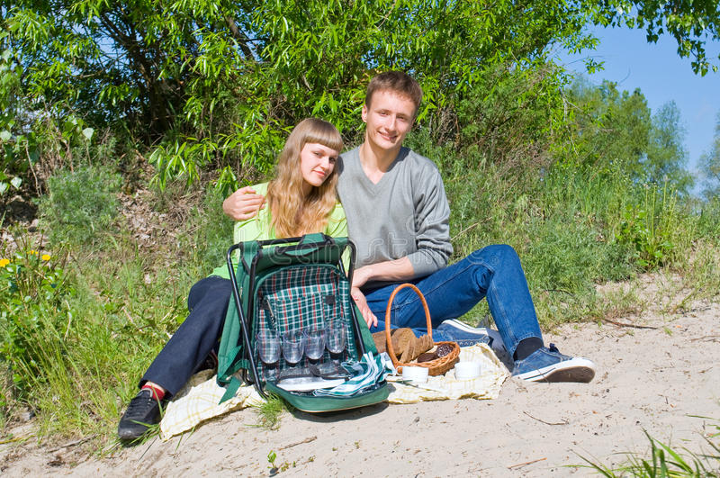 Portrait of love in nature stock photo