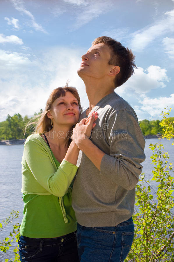 Portrait of love in nature royalty free stock photo