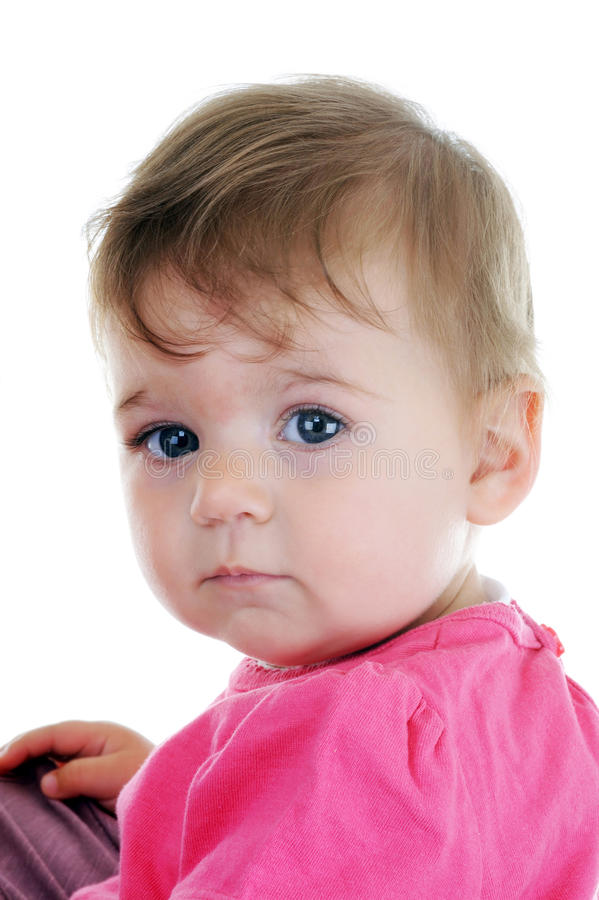 Portrait of lovely baby stock photography