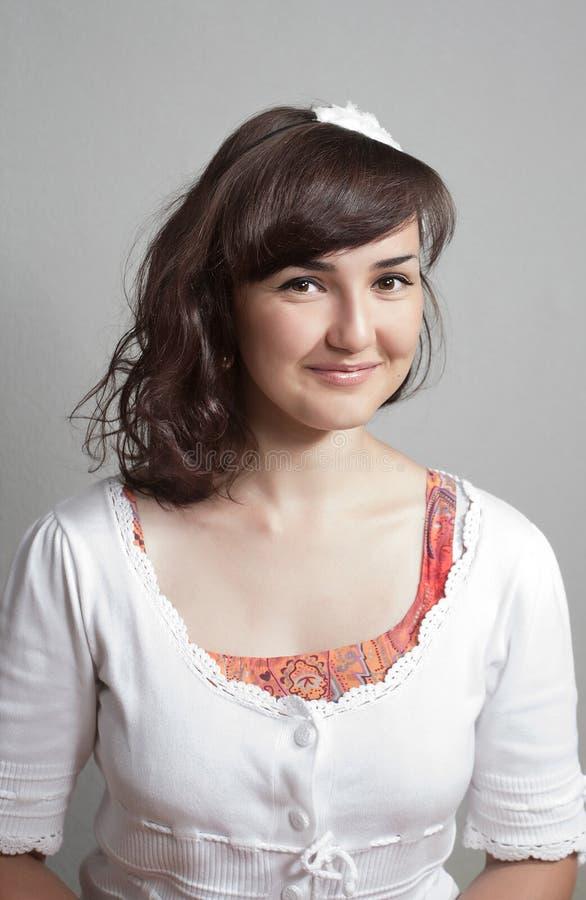 Portrait of the lovely innocent girl stock image