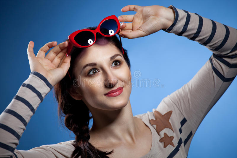 Download Portrait Of The Lovely Woman In Retro Style Royalty Free Stock Image - Image: 23844616