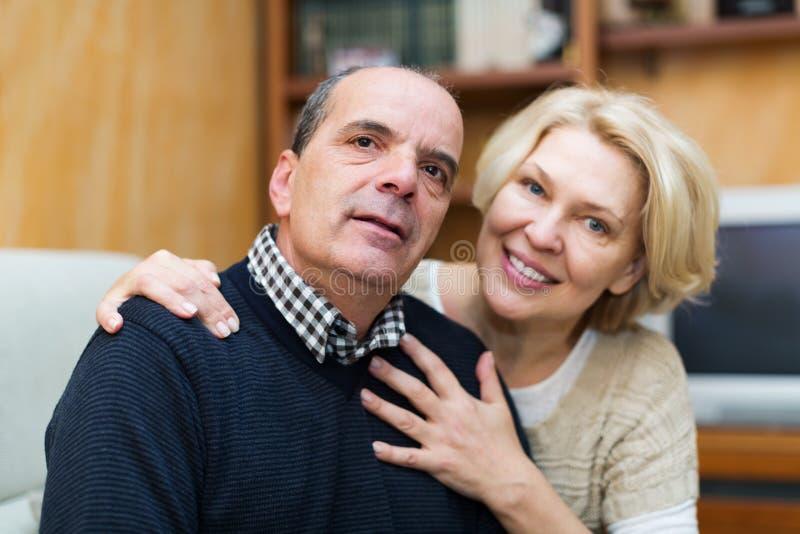 Portrait of loving mature couple stock image