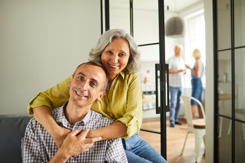 Portrait of Loving Senior Couple stock image