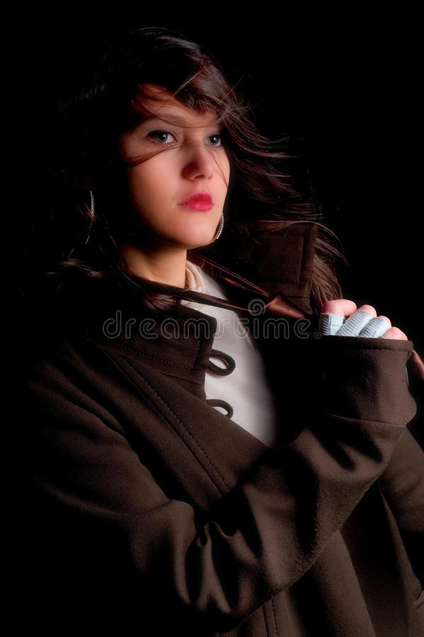 Portrait in low-key stock photos