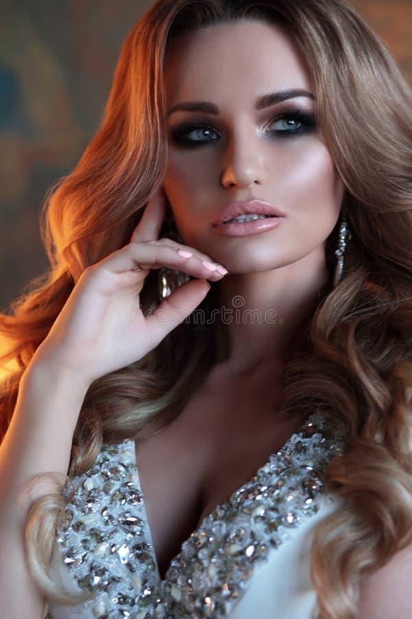 Portrait Luxury lady. royalty free stock photography