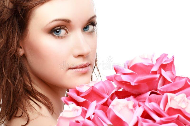 Portrait magnifique d'une belle jeune femme photo stock