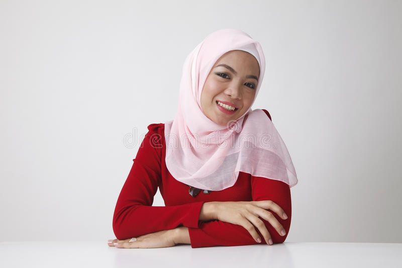 Portrait of malay woman stock images