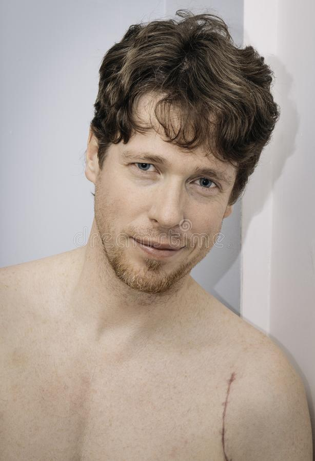 Portrait of male stock photo
