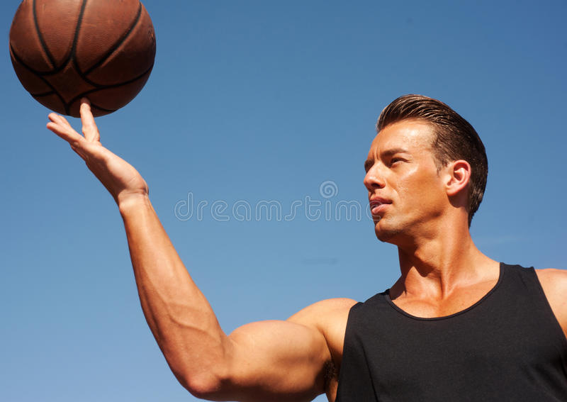 Download Portrait Of A Male Basketball Player Stock Photo - Image of activity, sportsman: 23864788