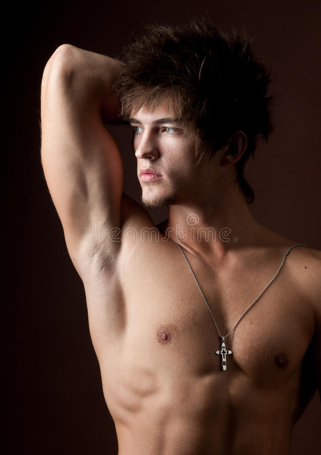 Portrait of male model stock photography