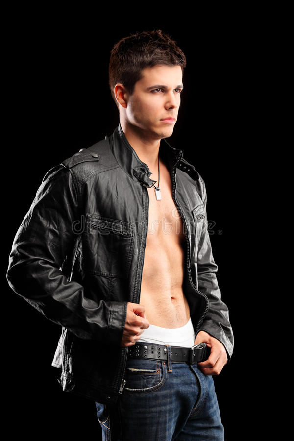 A portrait of a male model posing royalty free stock images