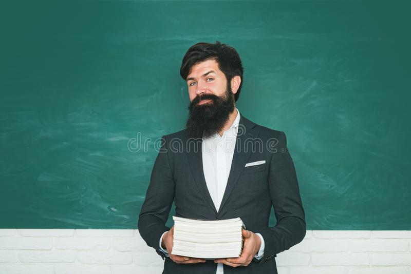 Portrait of male University Student indoors. Student and tutoring education concept. Learning and education concept royalty free stock image