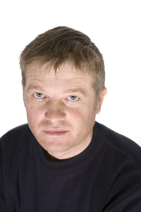 Portrait of the man stock photo