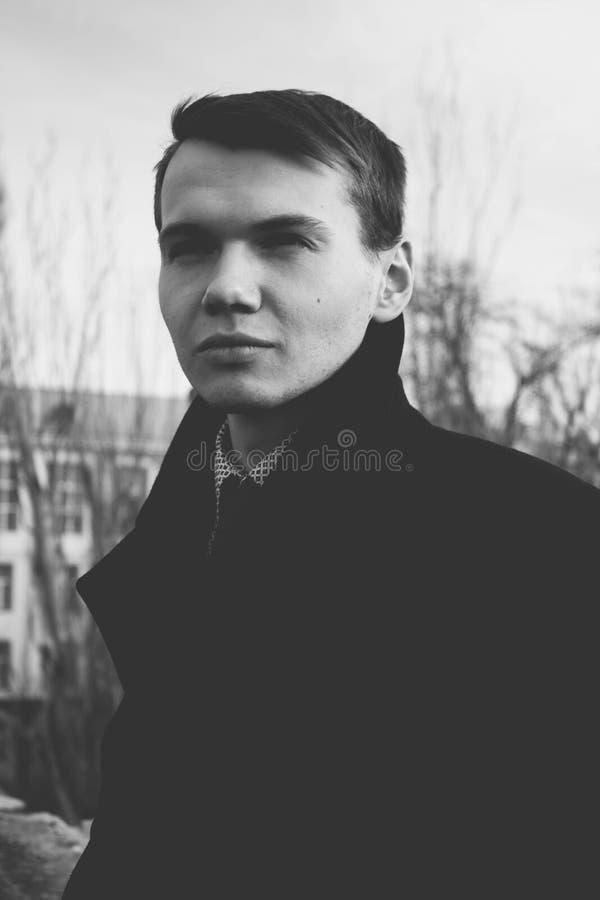 Portrait of Man Against Sky stock photo