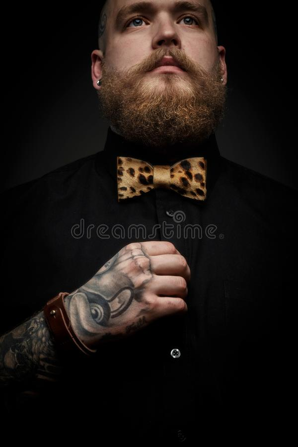 Portrait of the man with beard stock photos