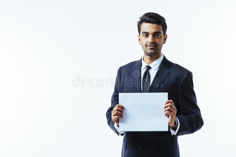 Portrait of a man in business suit stock photo
