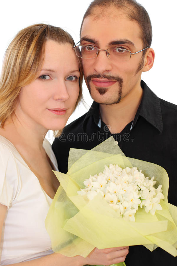 Download Portrait Of Man In Glasses And Beauty Blond Girl Stock Photo - Image: 15690812