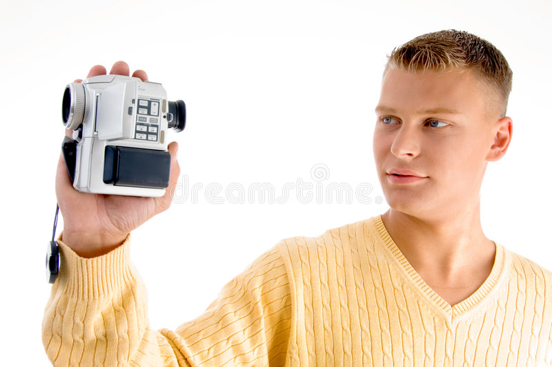 Download Portrait Of Man With Handy Cam Stock Photo - Image: 7418592