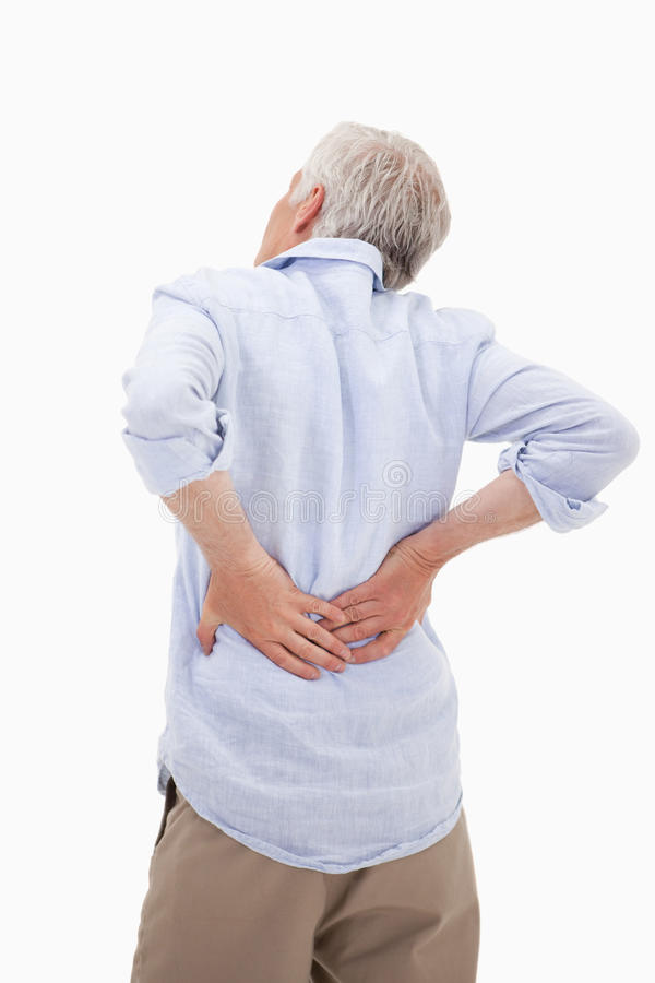 Download Portrait Of A Man Having A Back Pain Stock Photo - Image: 22663434