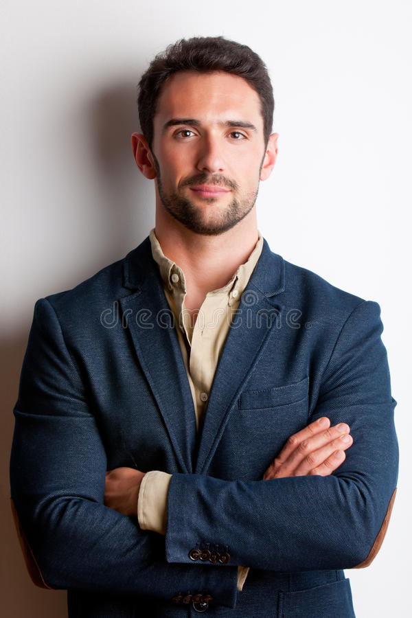 Portrait Of A Man With His Arms Crossed Stock Photos