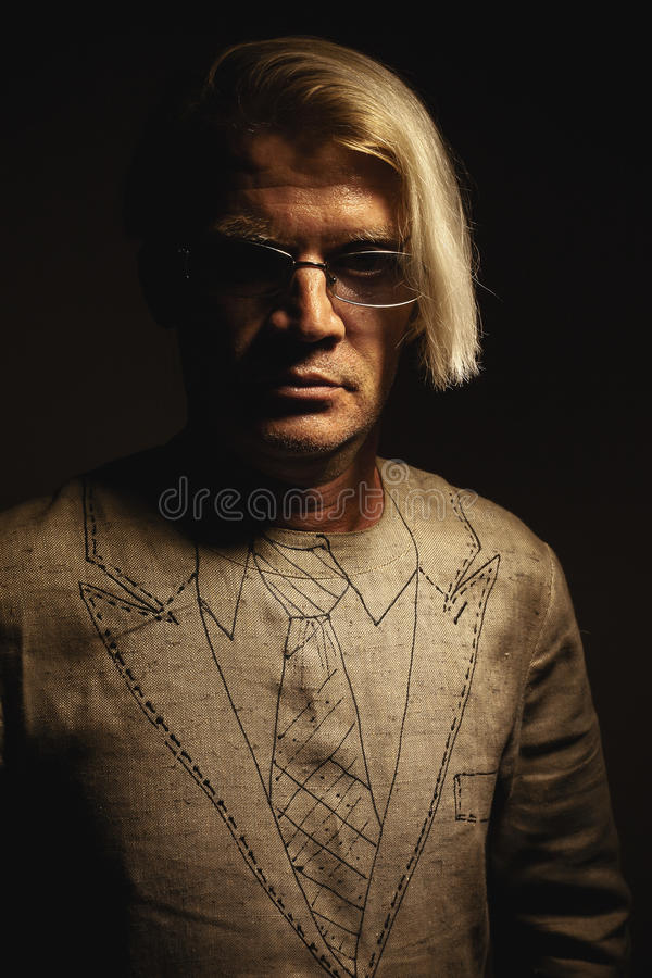 Portrait of a Man In Quasi Suit royalty free stock photo