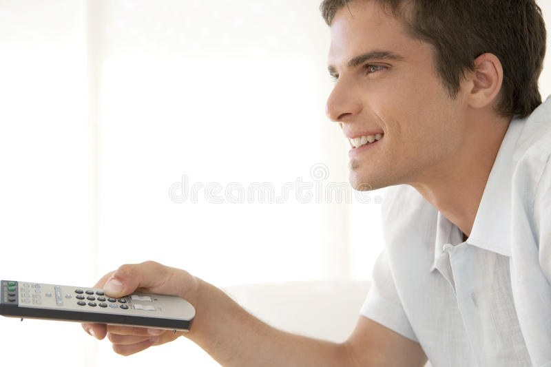 Portrait of Man with Remote Control