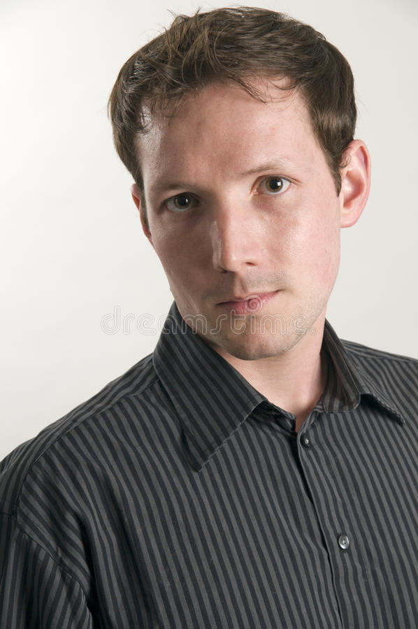 Portrait of man in shirt stock image