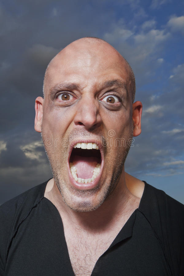 Download Portrait of a man shouting stock photo. Image of frustration - 28561146