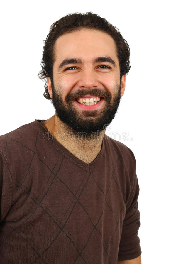 Portrait of man smiling stock images
