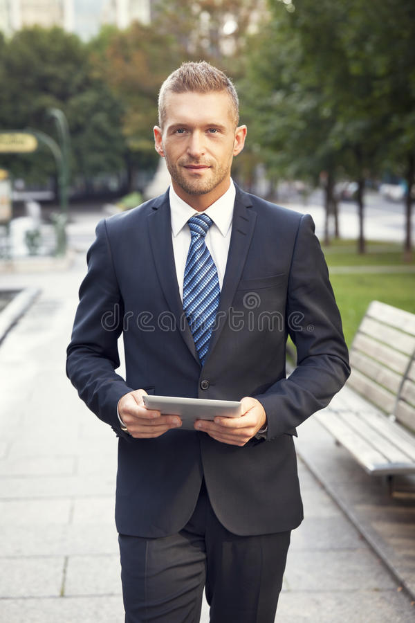 Portrait Of A Man Smiling At The Camera royalty free stock images