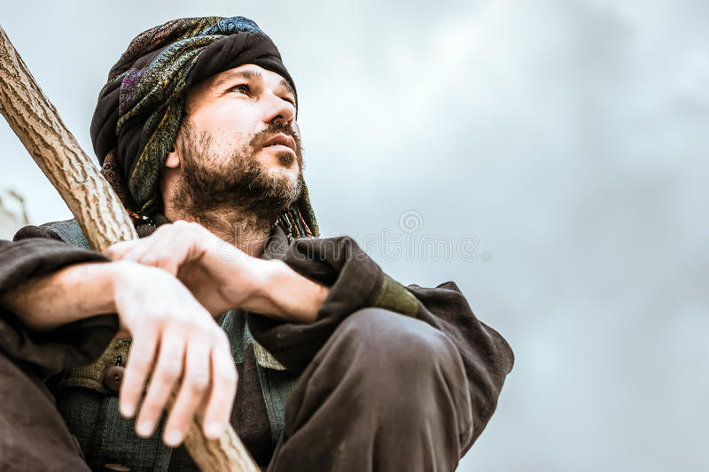 Portrait of a man in turban stock images